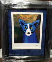 GEORGE RODRIGUE AUTOGRAPHED BLUE DOG PIECE 202//237
