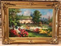 SPRING SCENE FRAMED OIL PAINTING PRINT ON CANVAS 202//152