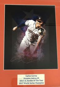 Signed Photograph of Carlos Correa, Houston Astro 194//280