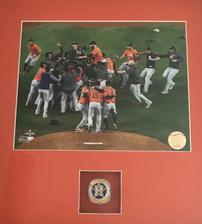 2017 Houston Astros Championship Celebration Photograph with World Series Ring 202//224