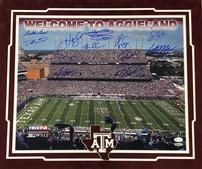 "Texas A&M Legends signed ""Welcome to Aggieland"" Picture 202//169"