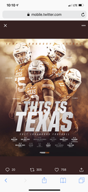 Texas Longhorn Football Tickets 129//280