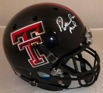 Patrick Mahomes signed Texas Tech helmet 202//181