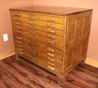 1937 Draftsman's Cabinet - Old Map Chest