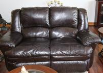 Leather Love Seat