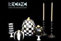 Black & White Painted Pumpkins Centerpiece 202//135
