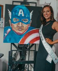 Miss Kansas Masked Hero Painting 202//246